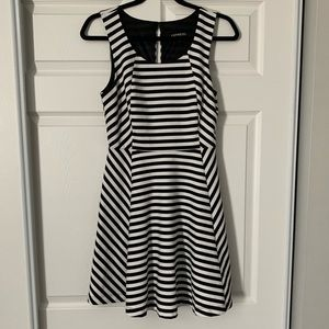 Express striped mini black and white dress size S